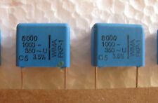10 WIMA 8000pF .008uF 1000V 1kV 3.5% FKP1 polypropylene capacitors