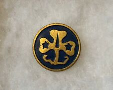 Vintage Girl Scout World Association WAGGGS Pin Blue & Gold Rare Hallmark
