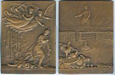 Médaille de table - REIMS bombardement et incendie cathédrale 19/09/1914