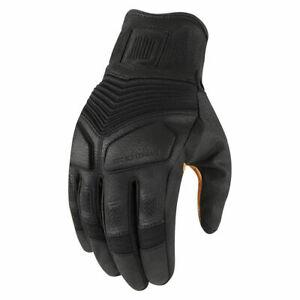 Icon 1000 Nightbreed Summer Motorcycle Gloves - Black