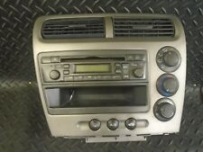 2003 HONDA CIVIC 1.4i 5DR RADIO CD PLAYER & HEATER CONTROLS - 39101-S6A-E611-M1