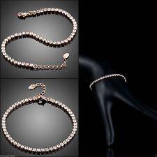 Modeschmuck-Armbänder im Tennis-Stil aus Rotgold