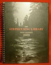STEPHEN KING 2009 DESK CALENDAR. NEW CONDITION! COLLECTIBLE! Great triva & more!