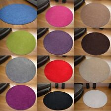 Small Large Size Circle Circular Round Circles Plain Coloured Floor Carpet Rugs
