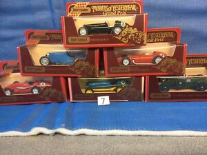 Matchbox Models Of yesteryear,job Lot (18)6 X Racing Cars In Red BoxesLesney.moy