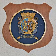Hr Ms Gelderland plaque shield crest Dutch Navy Netherlands gedenkplaat