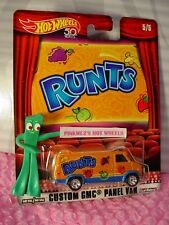 Nestle CUSTOM GMC PANEL VAN☆Orange;real riders☆RUNTS☆2018 Hot Wheels POP CULTURE