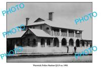 OLD 8x6 PHOTO WARWICK QUEENSLAND POLICE STATION c1901