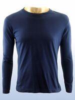 diesel maglia t shirt manica lunga uomo blu cotone taglia s small