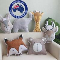 Kids Babys Modern Nursery Room Decor Animal Head Pillow Soft Stuffed Cushions
