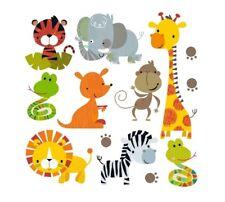 Patch Patches 9-teilig Aufbügeln Bügelbilder Kinder Zoo Kleidung Abzeichen