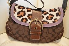 Authentic Coach Bag With Leopard Print