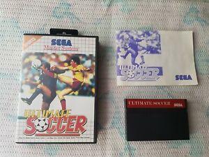 Sega Master System Ultimate Soccer Complete ! VGC ! PAL - European