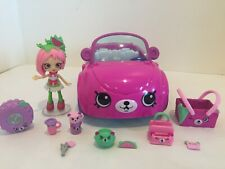Shopkins Happy Places Beary ( Berry) Fun Convertable- 100% with Pippa Melon Doll