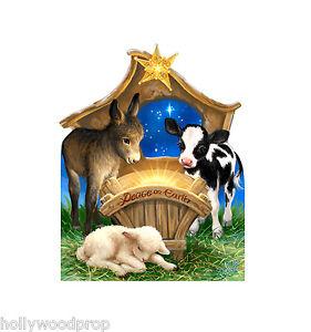CHRISTMAS NATIVITY DONA GELSINGER LIFESIZE CARDBOARD STANDUP STANDEE CUTOUT NEW