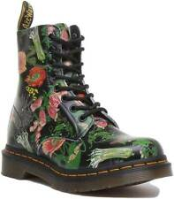Dr Martens 1460 Pascal Womens Ankle Boots In Floral Black Multi UK Sizes 3 - 7