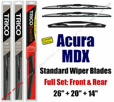 Wiper Blades 3-Pack Front Rear Standard - fit 2014+ Acura MDX - 30260/200/14B