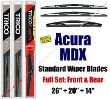 Wiper Blades 3-Pk Front Rear Standard - fit 2014+ Acura MDX - 30260/200/14B