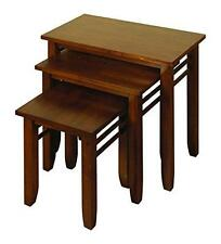 Solid Hardwood Dark Nest of Tables - Solid wood Dark Nesting Tables - Living Roo
