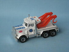 Matchbox Peterbilt Wrecker Police Chrome Exhaust SFPD Wreck Truck Toy Model UB