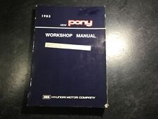 1983 Hyundai Pony OEM Shop Repair Service Manual 1.2L 4G36  1.4L 4G33 GLS Glory