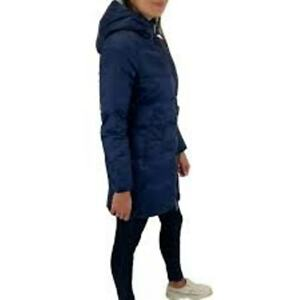 Women's DIESEL PATLONG REAMU Lined and padded WINTER HOODED JACKET Navy RRP £280