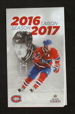 Brendan Gallagher--Montreal Canadiens--2016-17 Pocket Schedule--Molson Canadian
