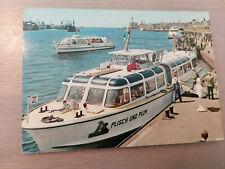 Postkarte Passagierschiff Plisch und Plum Hamburg St. Pauli Landungsbrücken  ung