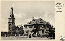 12763/ Foto AK, Wolfen Krs. Bitterfeld, ev. Kirche und Pfarrhaus, ca. 1930