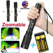Zoomable 5-Mode 350000Lumens High Power T6 LED Flashlight Torch 186*50 Charger