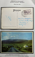 1957 Shannon Airport Ireland Airmail Picture Postcard Cover To Bruxelles Belgium
