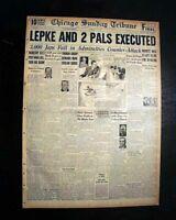 LOUIS 'LEPKE' BUCHALTER Murder Inc. Mafia Mob Boss EXECUTION 1944 WWII Newspaper