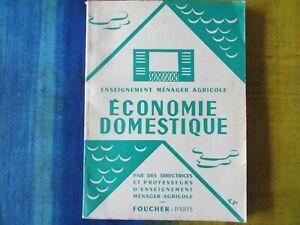 Economie domestique Editions Foucher 1962