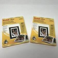 Kodak Ultra Premium Photo Paper - 5x7 High Gloss 20 Sheets each, Lot of 2 SEALED