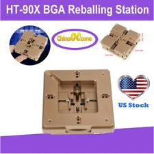 Ht 90x Bga Reballing Station Stencil Solder Rework Kit Fixture Magnet Solder Us