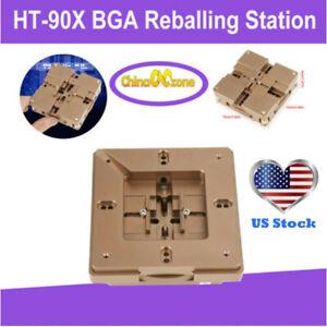 HT-90X BGA Reballing Station Stencil Solder Rework Kit fixture magnet Solder US