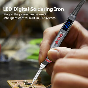 90W Soldering Iron Set Adjustable Temperature Electric Soldering Iron K1Z8