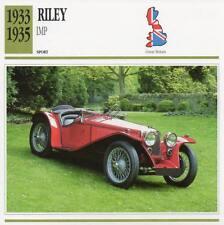 1933-1935 RILEY IMP Sports Classic Car Photo/Info Maxi Card