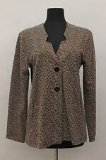 STUDIO CLOTHING EUROPEAN POLY KNIT METALLIC BUTTONED  POCKET A SHAPED JACKET Sm