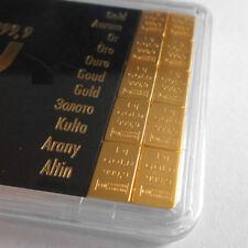 10 Gramm CombiBar 10 x 1 Gramm Tafelbarren Valcambi Gold 999,9 Barren