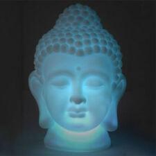 Buddha DEKO LED Farbwechsel 18cm leuchte Lampe Batterie Kopf