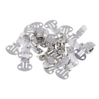 20pcs Silver Stainless Steel Shoes Clips for DIY Crafts Findings Accessories