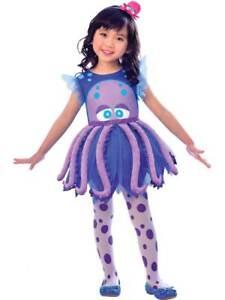 Girls Octopus Costume Childs Sea Life Animal Fish New Fancy Dress Book Week Kids