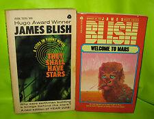 James Blish 2 Lot paperbacks pbs Lot They Shall Have Stars Welcome to Mars