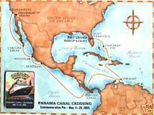 Disney Cruise DCL Commemorative Panama Canal Pin & Map