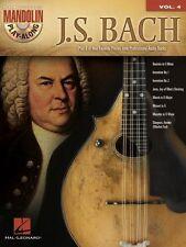 J.S. Bach Mandolin Play Along 8 Songs! Tab Book Cd NEW!
