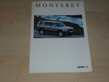 40849) Opel Monterey Prospekt 08/1995
