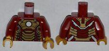 LEGO - Minifig, Torso Armor w/ White Circle & Gold Plates Pattern (Iron Man)