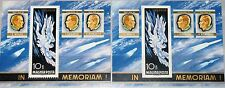 HUNGARY UNGARN 1968 Block 63 A-B C275 Icarus Died Astronauts Space Weltraum MNH