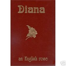 PRINCESS DIANA:  ENGLISH ROSE LEATHER WITH SLIPCASE COLOR PHOTOGRAPH BOOK